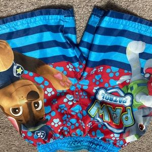 Nickelodeon paw patrol swim trunks
